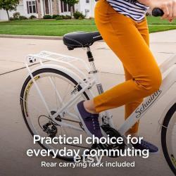 Vélo hybride homme et femme, roues à 21 vitesses et 28 pouces, cadre chevauchant ou chevauchant
