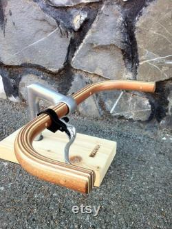 acajou, chêne et bois de cendres bullhorn manche de vélo