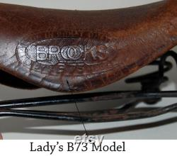 années 1940 Ère Brooks cuir selle de siège bicyclette-USShipping gratuit
