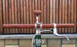 bubinga et bois de cendres courbée guidon de vélo