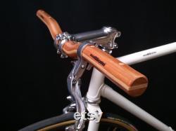guidon de bicyclette de chariot élévateur en bois de cerise et d érable guidon de bicyclette en bois