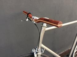 guidon de bicyclette de riser en bois