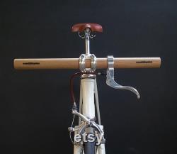 guidon de bicyclette en bois de chêne