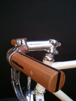 guidon de vélo de moustache de cerise et de bois noir guidon de bicyclette en bois