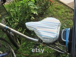 protection selle de vélo, housse, accessoire vélo, imperméable, 2 formes de selles, différents motifs