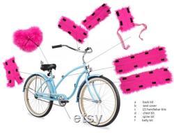 reUSEable Haute Pink HANDLE BAR bits Faux Fur 2 pièces d enveloppement