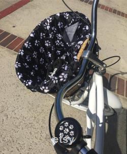 si mignon chien patte vélo Bell, nouveauté vélo Bell qualité acier ou alliage Ringer, match panier liner et housse de siège de vélo pour votre plus doux Ride