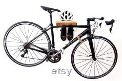 support de vélo bois d étagère de vélo monture de mur de vélo support de vélo en bois support de vélo VACO OAK