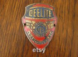 vintage Bicycle Badge DEELITE Fred Deeley Cycles Vancouver BC Antique