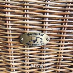 vintage Large Wicker Bike Basket Nantucket Bike Basket Co